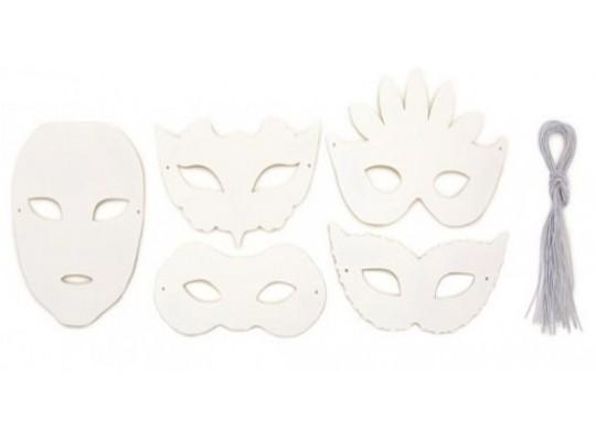 Maska z papíru bílá