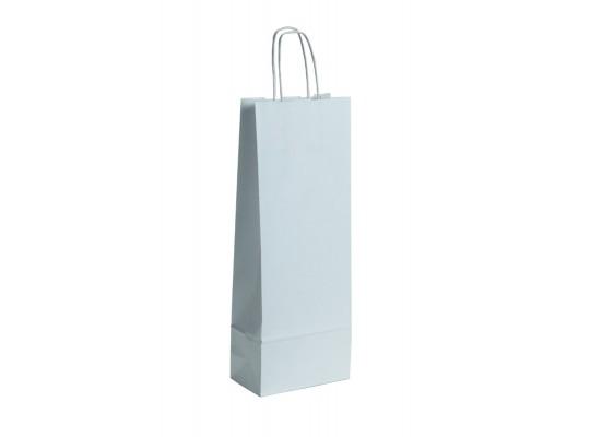 Taška z papíru úzká-bílá