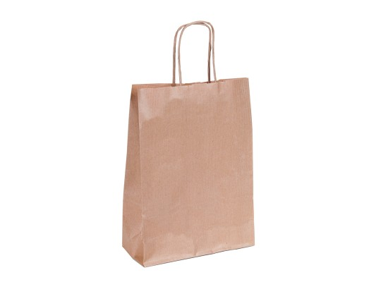 Taška z papíru široká-přírodní