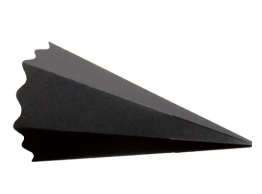 Kornout z papíru-černý