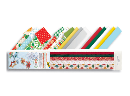 Proužky z papíru proplétací Vánoce