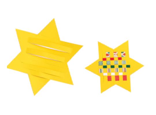Tvar z papíru proplétací-hvězda