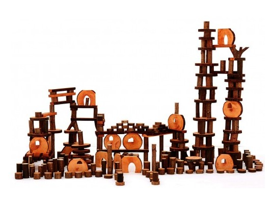 Stavebnice-blok stromový-velká