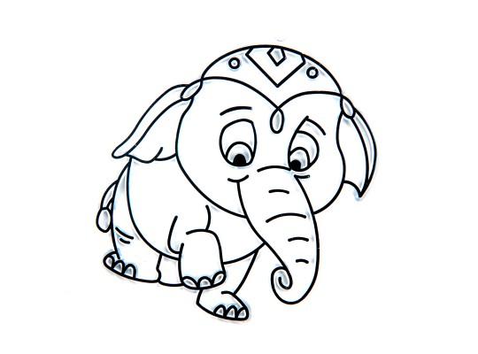 Sklíčko závěsné kontura slon