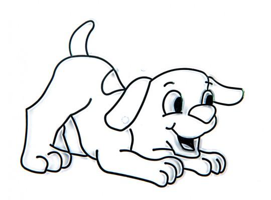 Sklíčko závěsné kontura pes