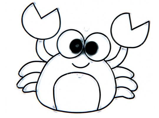 Sklíčko závěsné kontura krab