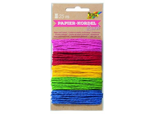 Provázky papírové barevné