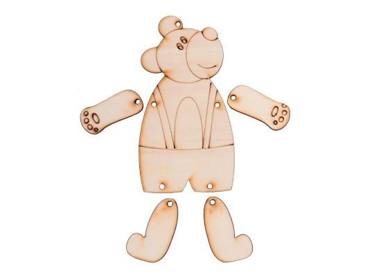 Figurka dřevěná pohyblivá-medvěd
