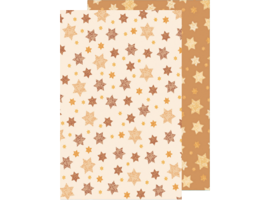 Fotokarton hvězdičky barevné krémová/přírodní