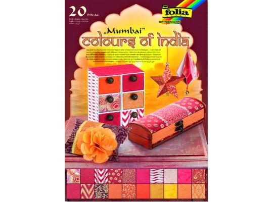 Blok barvy Indie-oranžový/červený