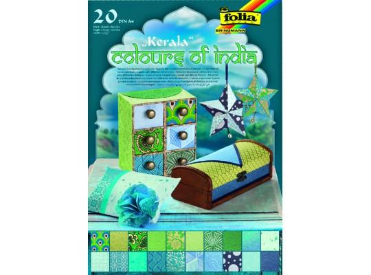Blok barvy Indie-modrý/zelený