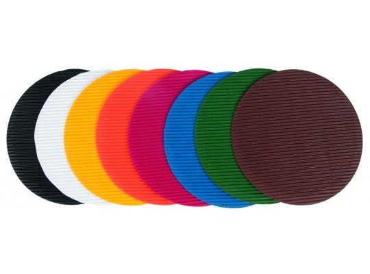 Kolečko z lepenky vlnité barevné-velké průměr 15cm