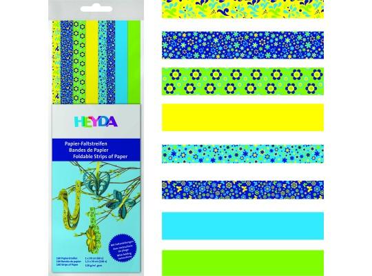 Proužky z papíru proplétací-modré, zelené, žluté