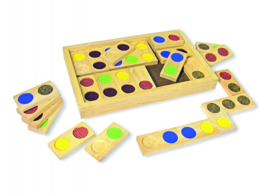 Domino hmatové-povrchy/barvy