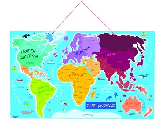Puzzle mapa světa-magnetická