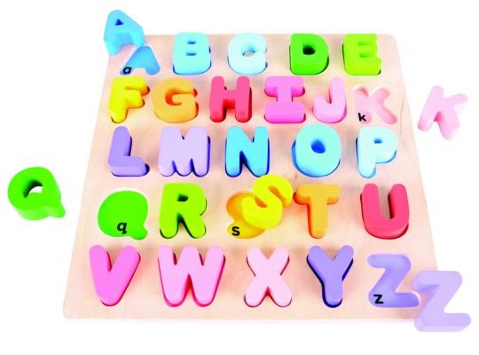 Vkládačka dřevěná-abeceda