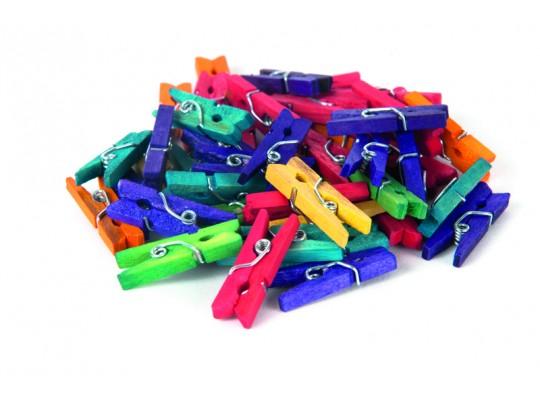 Kolíčky dřevěné malé-barevné