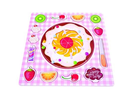 Puzzle dřevěné-koláč