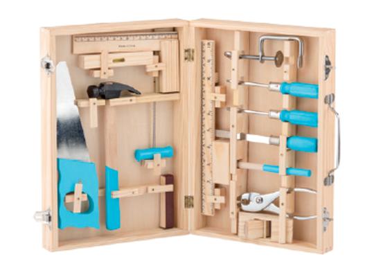 Nářadí kovové-dřevěný kufřík