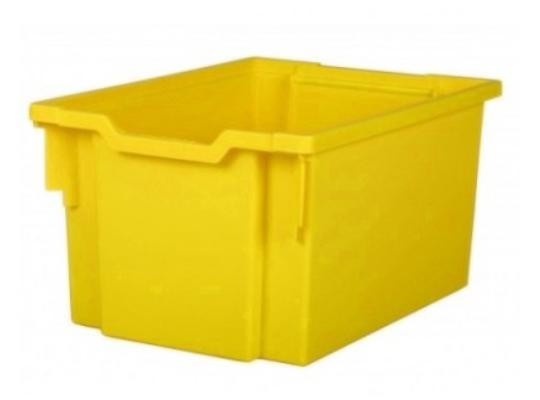 Box plastový vysoký-žlutý