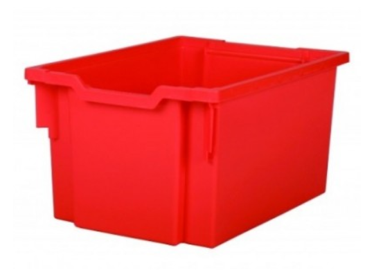 Box plastový vysoký-červený