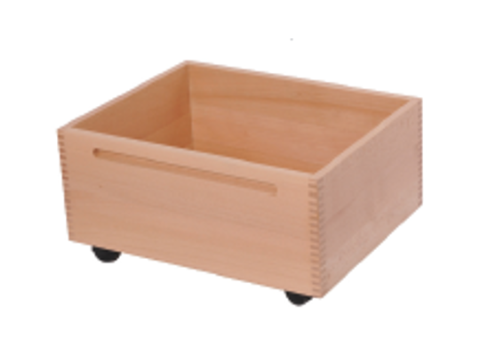 Kontejner dřevěný kolečka-přírodní