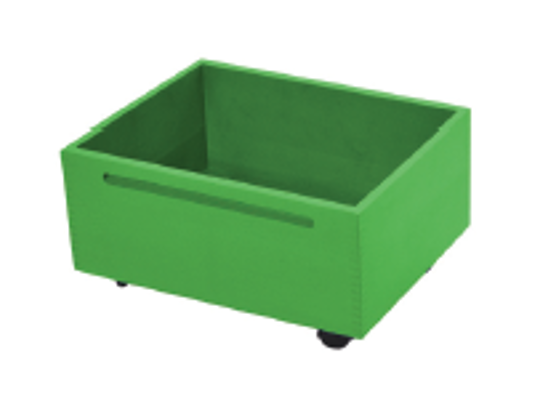 Kontejner dřevěný kolečka-zelený