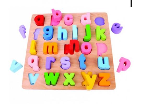 Vkládačka dřevěná-abeceda malá