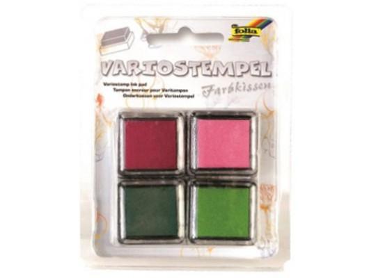 Razítkovací polštářek-zelená/vínová/růžová