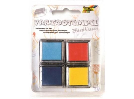Razítkovací polštářek-modrá/oranžová/žlutá