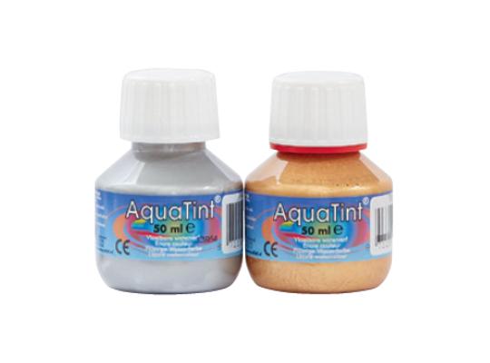 Barvy Aquatint zlatá/stříbrná