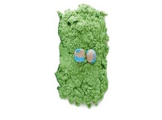 Písek kinetický barevný-zelený