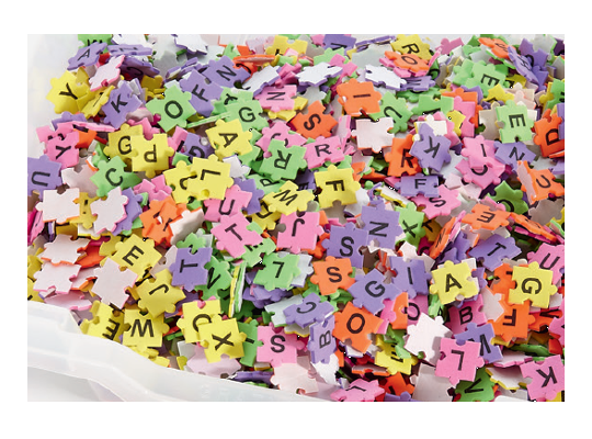 Pěnovka moosgummi písmenka puzzle