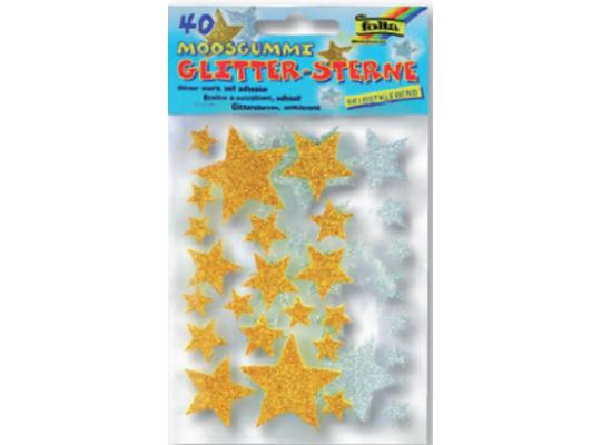 Pěnovka moosgummi samolepicí hvězdy