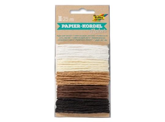 Provázky papírové přírodní