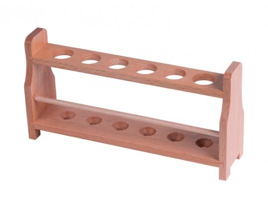 Stojánek na zkumavky dřevěný