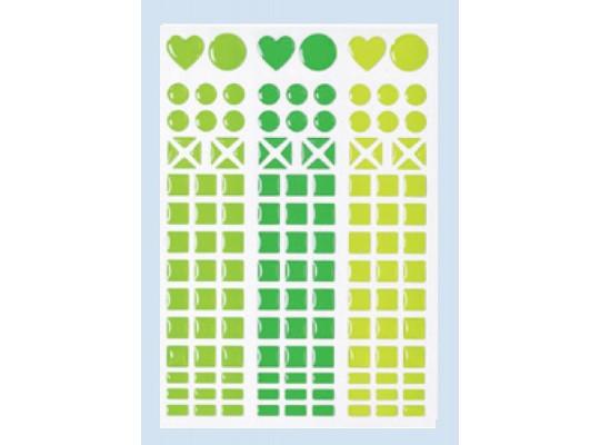 Kamínky mozaikové samolepicí zelené