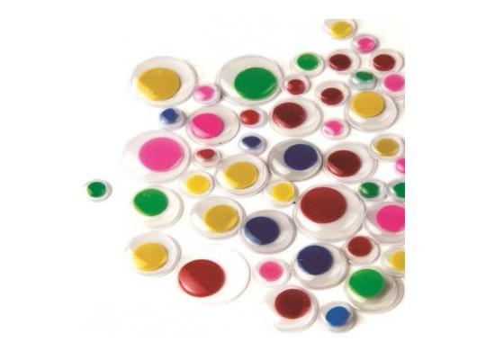 Oči dekorační kulaté barevné