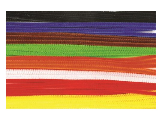 Drátky chlupaté barevné-sada-velká
