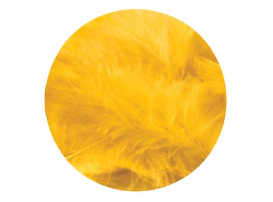 Peří dekorační-žluté