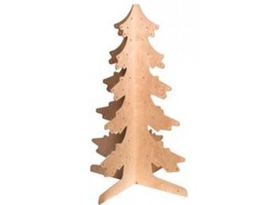 Strom 3D dřevěný jehličnatý