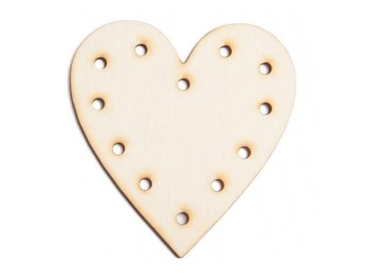 Tvar dřevěný proplétací-srdce