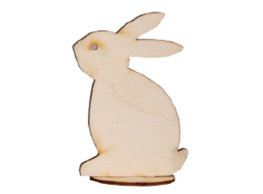 Stojánek dřevěný-zajíc