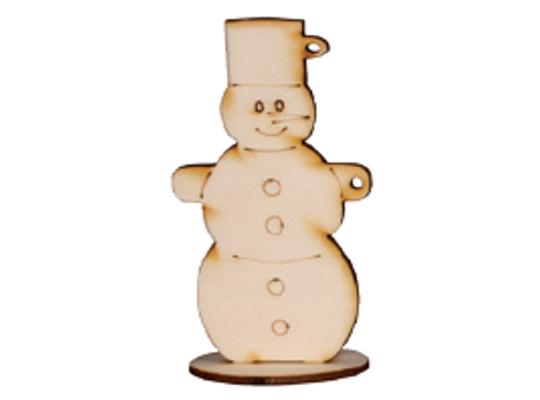 Stojánek dřevěný-sněhulák