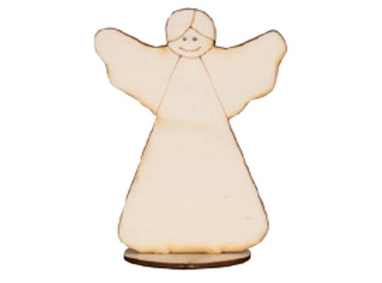 Stojánek dřevěný-anděl