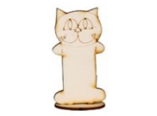 Stojánek dřevěný-kočka
