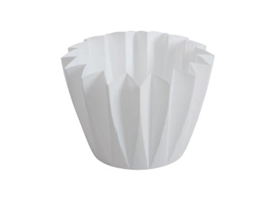 Plastový květináč bílý