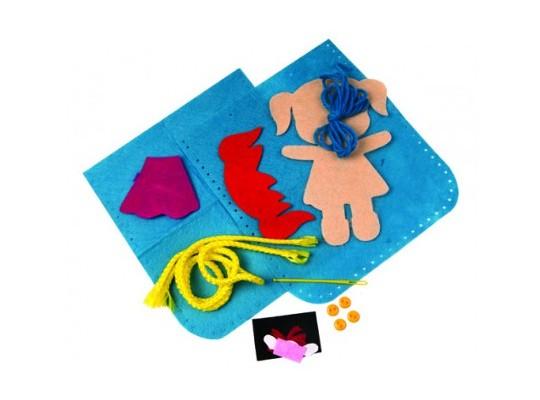 Kreativní sada-kabelka z filcu