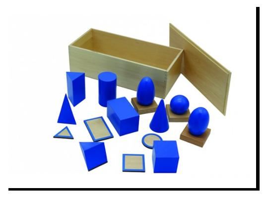 Těleso geometrické/základna Montessori