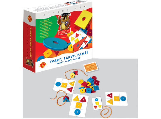 Tvary, barvy, paměť-hra desková